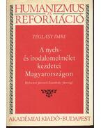 A nyelv- és irodalomelmélet kezdetei Magyarországon (Sylvester Jánostól Zsámboky Jánosig) - Téglásy Imre