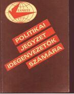 Politikai jegyzet idegenvezetők számára