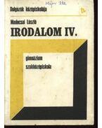 Irodalom IV. - Madocsai László
