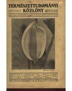 Természettudományi Közlöny 1935 évfolyam