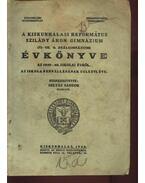 A Kiskunhalasi Református Szilády Áron Gimnázium értesítője az 1939-40. iskolai évről