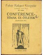 Conférence-témák és ötletek
