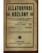 Állategészségügyi közlöny XVI. évfolyam 1918. december