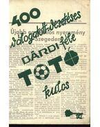 400 válogatott-vezetéses Bárdi-féle TOTÓ kulcs