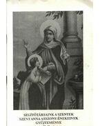 Segítőtársaink a szentek szent Anna asszony énekeinek gyűjteménye II. füzet