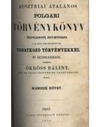 Ausztriai általános polgári törvénykönyv I- ll. kötet