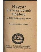 Magyar Keresztények Naptára az 1938-ik közönséges évre