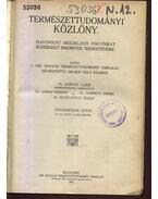 Természettudományi közlöny LVII. kötet