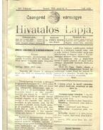 Csongrád vármegye Hivatalos Lapja 1916.