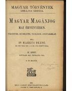 Magyar magánjog mai érvényében