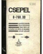 CSEPEL D-750.30 teherautó alkatrész katalógus
