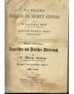 Uj teljes magyar és német szótár (1914)