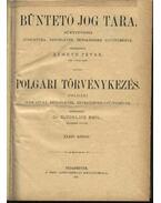 Büntető jog tára, Polgári törvénykezés XXXIV. kötet (1897. év)