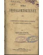 Római irodalomtörténet