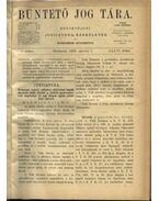 Büntető jog tára, Polgári törvénykezés XXXVI. kötet (1898. év)