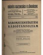 Baromfitenyésztési rádiótanfolyam