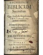 Enchiridion biblicum succinstius