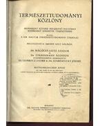 Természettudományi közlöny 1067-1078. füzet és 205-208. pótfüzet