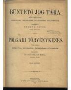 Büntető jog tára, Polgári törvénykezés XLIV. kötet (1902. év)