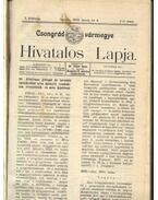 Csongrád vármegye Hivatalos Lapja 1912.