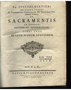 De Sacramentis in genere baptismo et confirmationw