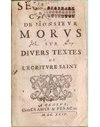 Sermons choisis de Monsieur Morus, sur divers textes de l'Écriture Sainte