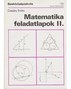 Matematika feladatlapok II. - Czapáry Endre