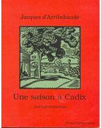 Une saison á Cadix - D'ARRIBEHAUDE, JACQUES