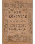 Deák Ferencz emlékezete