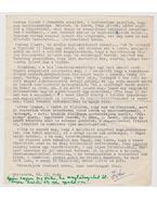 Dévényi Iván levél