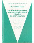 A közalkalmazottakról jogállásáról szóló törvény és magyarázata - Dr. Cséffán József