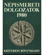 Népismereti dolgozatok 1980 - Dr. Kós Károly