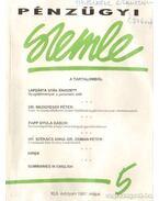 Pénzügyi szemle XLII. évfolyam 1997. május - Dr. Szamek Tamás (főszerk.)