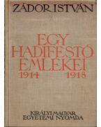 Egy hadifestő emlékei 1914-1918 (dedikált)