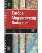 Európa, Magyarország, Budapest autóatlasz