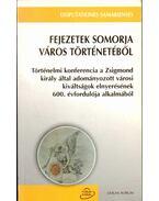 Fejezetek Somorja város történetéből