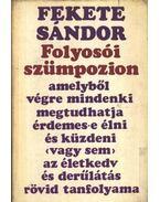 Folyosói szümpozion - Fekete Sándor
