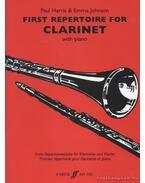 First repertoire for clarinet (klarinét, zongorakísérettel)