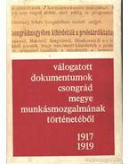 Válogatott dokumentumok Csongrád megye munkásmozgalmának történetéből 1917-1919 - Gaál Endre