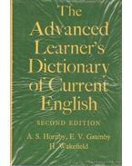 The Advanced Learner's Dictionary of Current English - Gatenby, E. V., Wakefield, H., HORNBY, A S