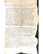 Rémtörténet című novellájának két oldalas gépirata szerző ceruzás javításaival, végén aláírásával - Gelléri Andor Endre