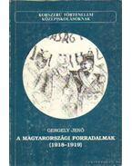 A magyarországi forradalmak 1918-1919 - Gergely Jenő