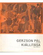 Gerzson Pál festőművész kiállítása