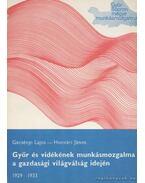Győr és vidékének munkásmozgalma a gazdasági világválság idején 1929-1933