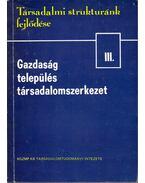 Gazdaság, település, társadalomszerkezet - Halay Tibor