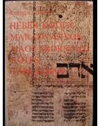 Héber kódexmaradványok magyarországi kötéstáblákban