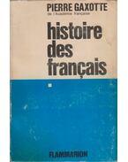 Histoire des Francaises I.
