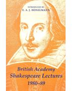 British Academy Shakespeare Lectures 1980-89