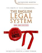 The English Legal System – 2008-2009 Edition