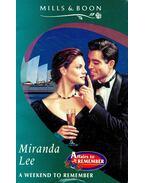 A Weekend to Remember - Lee, Miranda